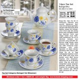 Bunga Biru 14pcs Tea Set